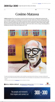 Cosimo Matassa / article from Nola.com