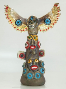 6-Face Bird Totem with Blue Smile / Main Image