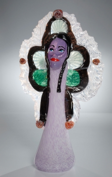 Violet Queen Mardi Gras Indian Vase / Main Image