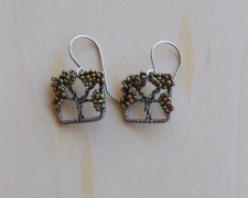 Oak Tree Earrings -- Afternoon