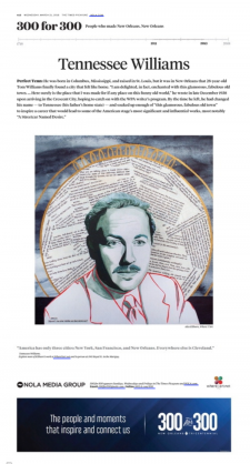Tennessee Williams / article from Nola.com