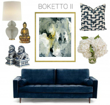 """Boketto II - Archival Print of Mixed Media Abstract on Watercolor Paper"""