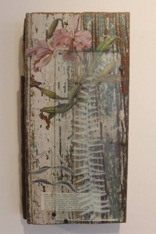Mixed Media Collage with Fern / Main Image