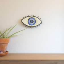 Evil Eye Talisman_Small_Navy and Black_In Room
