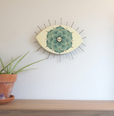 Evil Eye Talisman_Large Desert Succulent and Skull_In Room