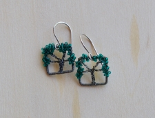 Oak Tree Earrings -- Forest
