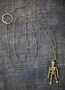 Tiny Dancer Skeleton Key Necklace / Main Image