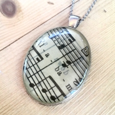 Alabama Sheet Music Necklace