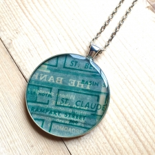 St. Claude Map Necklace / Main Image