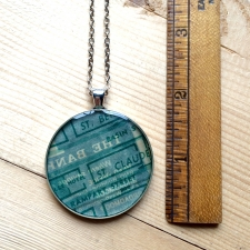 St. Claude Map Necklace