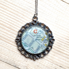 Galatoire's Map Necklace / Main Image
