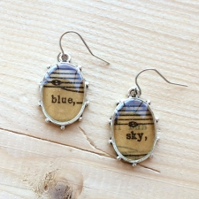 Blue Sky Sheet Music Earrings / Main Image