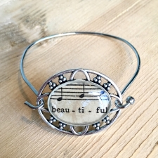 Beautiful Sheet Music Bracelet / Main Image