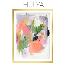 Hulya - Archival Print of Mixed Media Abstract on Watercolor Paper / Main Image