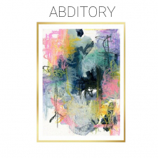 Abditory - Mixed Media Abstract on Watercolor Paper - Original / Main Image