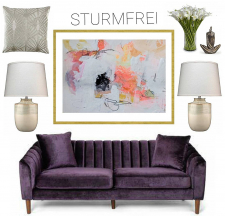Sturmfrei - Archival Print of Mixed Media Abstract on Watercolor Paper