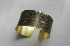 French Quarter Etched Cuff Bracelet