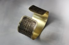 French Quarter Etched Cuff Bracelet / Main Image
