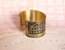 French Quarter (Toulouse St.) Etched Cuff Bracelet - Royal St. View