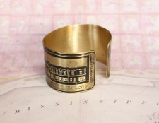 French Quarter (Toulouse St.) Etched Cuff Bracelet - St. Louis St. View