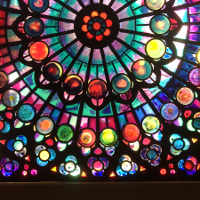 Rose Window at Night