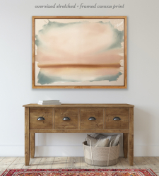 'Bare' Stretched + Framed Canvas Print