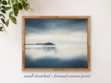 'Loss' Stretched + Framed Canvas Print