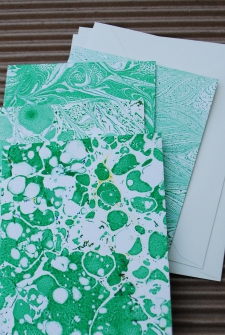 Marbled Note Cards / Peridot / Main Image