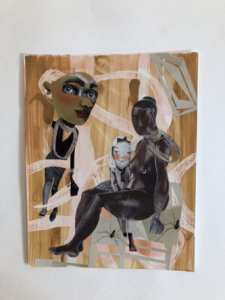 Women with Child - First in a Series of Six Original Collage Paintings / Main Image