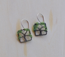 Oak Tree Earrings -- Morning