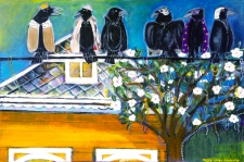 Mardi Gras Crows / detail