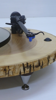 Audiowood Barky Turntable (detail)