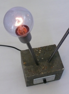 Concrete Accent Lamp (detail)
