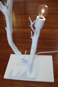 white tree lamp (detail)