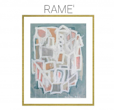 Rame' - Archival Print of Mixed Media Abstract on Watercolor Paper / Main Image