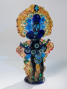 Mardi Gras Indian Ruby Gold Blue / Main Image