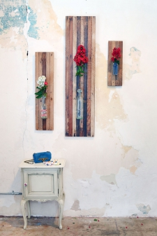 Lath Board Wall Vase Collection