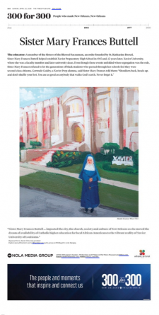 Sister Mary Frances Buttell / article from Nola.com