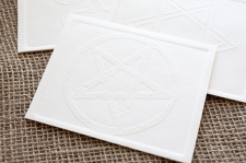 Embossed Pentagram Cards/ product detail