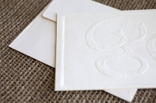 Embossed Om Cards/ product detail