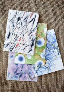 Marbled Note Cards D/ product view