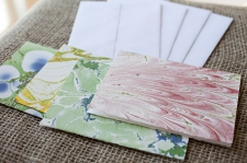 Marbled Note Cards E/ product view