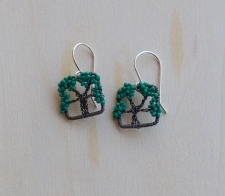 Oak Tree Earrings -- Vibrant