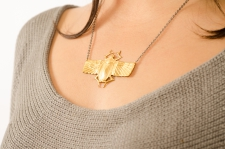 Winged Scarab Necklace / Main Image