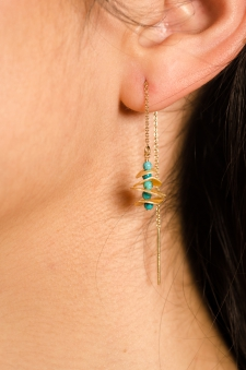 Turquoise Orbital Threader Earrings / Main Image