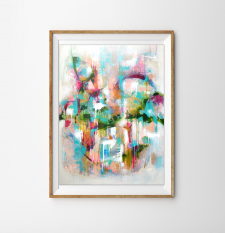 Abstract Giclee Print - Titled 'Candy Crush' / Main Image