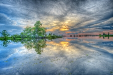 "Lake Maurepas Sunset 2 60"" x 40"" / Main Image"
